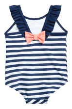 Patterned swimsuit - Dark blue/Striped - Kids | H&M 2