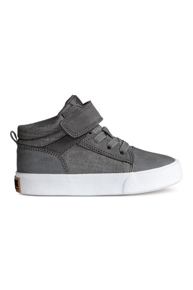 Cotton twill trainers - Dark grey -  | H&M 1