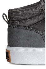 Cotton twill trainers - Dark grey -  | H&M 4