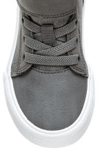 Cotton twill trainers - Dark grey -  | H&M 3