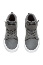 Cotton twill trainers - Dark grey -  | H&M 2