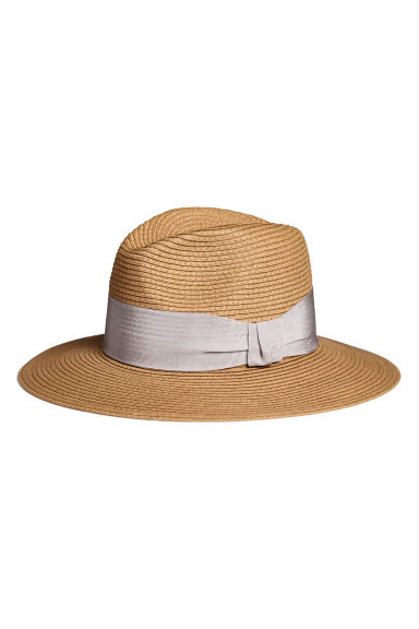 Straw hat - Natural -  | H&M 1