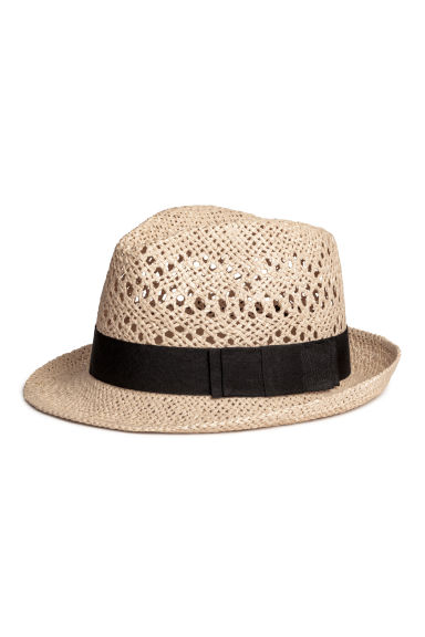Straw hat - Natural/Black - Ladies | H&M