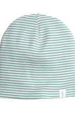 Cuffiette in jersey, 2 pz - Verde menta/righe -  | H&M IT 2