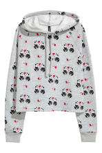 Short hooded top - Grey/Panda - Ladies | H&M CN 2