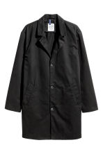 Cotton twill coat - Black - Men | H&M CN 2