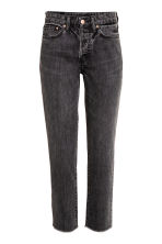 Vintage High Cropped Jeans - Denim negro - MUJER | H&M ES 2