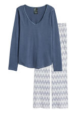 Pyjamas - Dark blue/Zigzag - Ladies | H&M 2