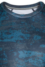Short-sleeved sports top - Blue/Patterned - Men | H&M 3