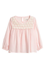Blouse with lace - Light pink - Kids | H&M 2