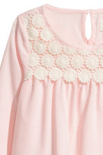 Blouse with lace - Light pink - Kids | H&M CN 3