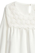 Blouse with lace - White - Kids | H&M CN 3