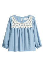 Blouse with lace - Blue - Kids | H&M 2