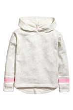 Marled hooded top - Light grey marl -  | H&M 2