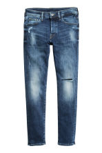 Skinny Low Trashed Jeans - Mörk denimblå - Men | H&M FI 2