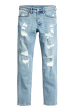 Skinny Low Trashed Jeans - Blu denim chiaro - UOMO | H&M IT 2