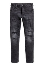 Skinny Low Trashed Jeans - Noir washed out - HOMME | H&M FR 2