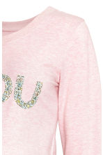 MAMA Sweatshirt - Light pink marl - Ladies | H&M 3