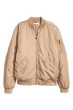 Oversized bomberjack - Beige - DAMES | H&M BE 2