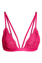 Non-wired lace bra - Raspberry pink - Ladies | H&M 2