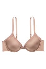 Padded microfibre bra - Toffee - Ladies | H&M 2