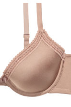 Padded microfibre bra - Toffee - Ladies | H&M CN 3