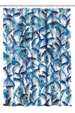 Printed shower curtain - White/Palm leaf - Home All | H&M CN 2
