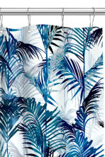 Printed shower curtain - White/Palm leaf - Home All | H&M CN 3