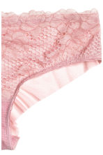 Lace hipster briefs - Vintage pink - Ladies | H&M CN 3