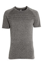 Seamless running top - Black marl - Men | H&M CN 2