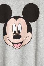 Printed nightdress - Grey/Mickey Mouse - Ladies | H&M CN 3