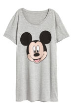 Printed nightdress - Grey/Mickey Mouse - Ladies | H&M CN 2