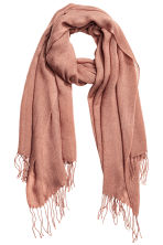 Fine-knit scarf - Old rose - Ladies | H&M 1