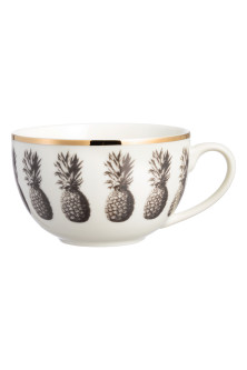 Pineapple-patterned mug