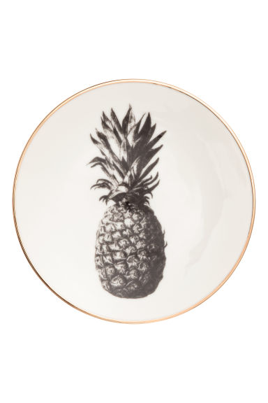 Piattino con ananas stampato - Bianco/dorato - HOME | H&M IT 1