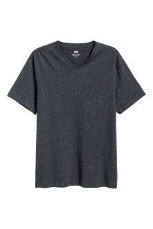 Nepped V-neck T-shirt