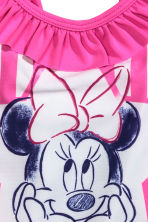 Swimsuit with a frill - Cerise/Minnie Mouse - Kids | H&M 4