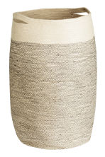 Jute laundry basket - Natural white - Home All | H&M CN 2