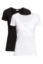 MAMA 2-pack nursing tops - White/Black - Ladies | H&M CN 3