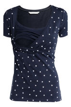 MAMA 2-pack nursing tops - Dark blue/Heart - Ladies | H&M CN 5