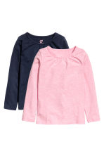 2-pack long-sleeved tops - Dark blue - Kids | H&M 2