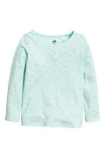 2-pack long-sleeved tops - Mint green/Heart - Kids | H&M 3