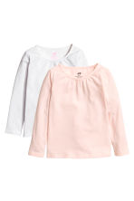 2-pack long-sleeved tops - White - Kids | H&M 2