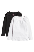 2-pack long-sleeved tops - White - Kids | H&M CN 2