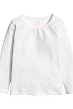 2-pack long-sleeved tops - White - Kids | H&M 4
