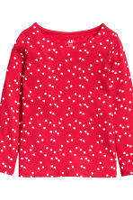 2-pack long-sleeved tops - Red/Hearts - Kids | H&M CN 4
