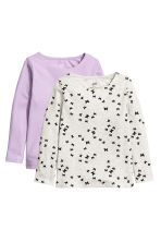 2-pack long-sleeved tops - Light purple - Kids | H&M 2