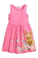 Patterned jersey dress - Pink/Rabbit -  | H&M CN 2