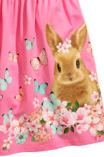 Patterned jersey dress - Pink/Rabbit -  | H&M CN 3
