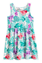 Patterned jersey dress - Light pink/Fish - Kids | H&M CN 2